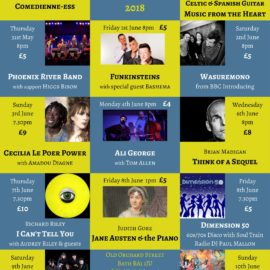 STOP PRESS – Bath Fringe Festival line-up for 2018 announced