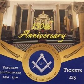 Bath Masonic Hall 1866 to 2016 – Celebrating 150 years